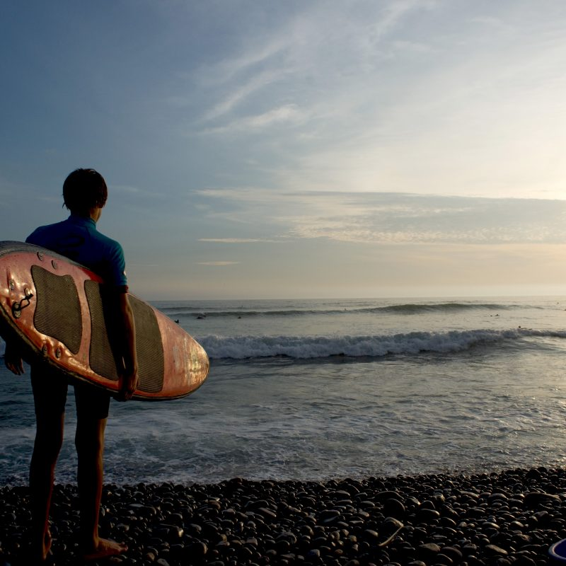 Surfing beaches in Lima Miraflores